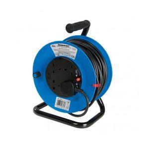Silverline 465510 - Enrouleur-dévidoir de câble 240V sur pied 13A 25m 4 prises