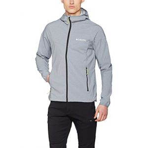 Columbia Homme Veste Softshell à Capuche, Heather Canyon Jacket, Polyester Softshell, Gris (Grey Ash Heather), Taille: M, WM1207