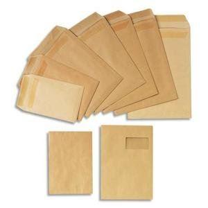 Gpv 250 pochettes 22,9 x 32,4 cm avec fenêtre 5 x 10 cm (90 g)