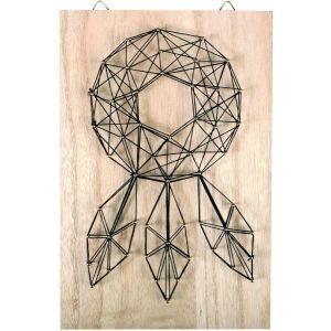 Graine Créative Kit tableau string art - Attrape-rêves - 20 x 30 cm