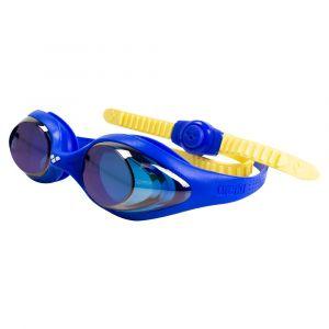 3f14f943d2 Arena Spider Jr Mirror Lunettes de Piscine Mixte Enfant, Bleu Jaune, TU
