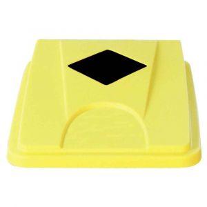 Couvercle carre tri sélectif 60/80 litres jaune