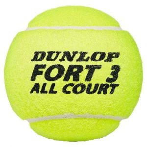 Dunlop Balles tennis Fort All Court Ts - Yellow - Taille 4 Balles