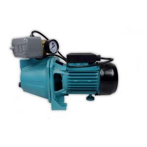 Omni Pompe d'arrosage JET100 POMPE DE JARDIN pour puits 1100 W 60l/min avec interrupteur et manomètre