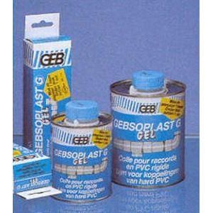 Geb Colle g gel pour tubes et raccords PVC rigide 1 litre + pinceau soplat