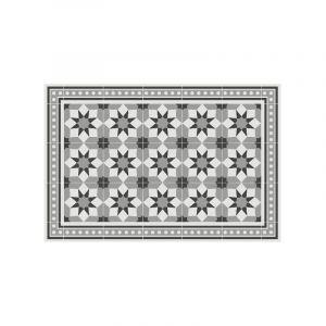 Contento 868257-02 Tapis de sol 60x90cm carrelage 6 gris mattéo