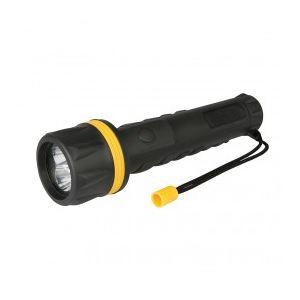 Silverline Torche caoutchoutée à LED