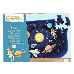 Avenue mandarine Puzzle Système solaire 76 pcs