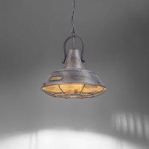 Suspension SAMIA gris style industriel de LeuchtenDIREKT