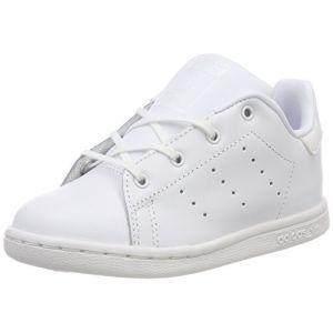 Adidas Stan Smith, Sneakers Basses mixte bébé, Blanc (Footwear White/Footwear White 0), 25 EU