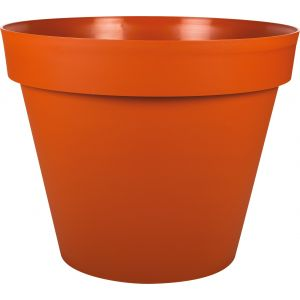 Eda Plastiques Pot gamme Toscane orange Ø 30 cm