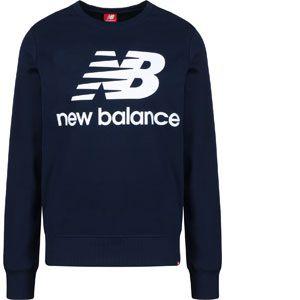 New Balance Sweat Stacked Logo Essentials Bleu marine - Taille S