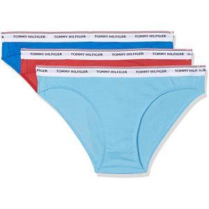 Tommy Hilfiger Vêtements intérieurs Tommy-hilfiger 3p Cotton Bikini - American Beauty / Princess Blue / Black - XS