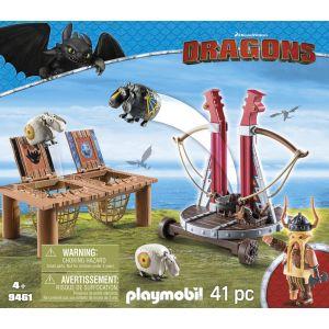 Playmobil 9461 Dragons - Gueulfor avec baliste lance-mouton