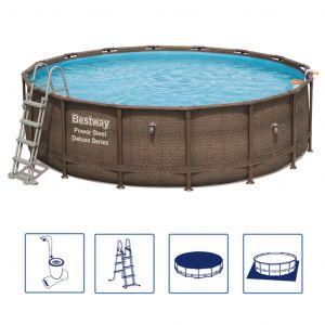 Bestway Ensemble de piscine rond Power Steel Deluxe Series 56666