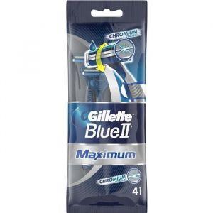 Gillette Rasoirs jetables Jet Blue2 Max - Lot de 4