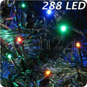 Fdl Guirlande lumineuse avec 288 led multicolore
