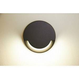 Lutec Sandwy - applique d%u2019extérieur LED ronde IP44