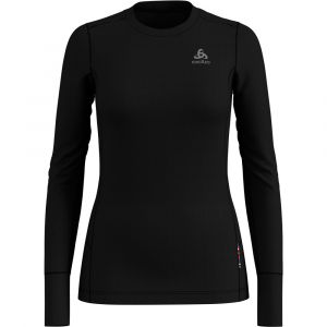 Odlo T- Shirt ML Natural 100% Merino Manches Longues Femme, Noir, FR : S (Taille Fabricant : S)