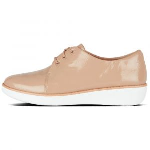 FitFlop Derbies DERBY CRINKLE PATENT Beige - Taille 36,37,38,39,40,41
