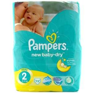 Pampers New Baby Dry taille 2 (3-6 kg) - 72 couches