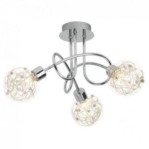 Brilliant AG Plafonnier spirale a 3 lumieres version sans ampoule Joya G9 32W chrome