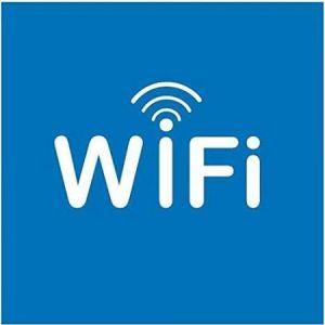 """APLI 12132 - Picto """"Zone WiFi"""" adhésif 114 x 114 mm"""
