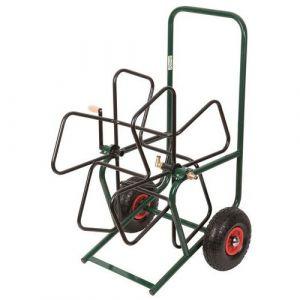 Ribimex Dévidoir métal pro sur roues gonflables à équiper -
