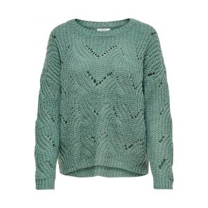 Only Detailed Knitted Pullover Women Green