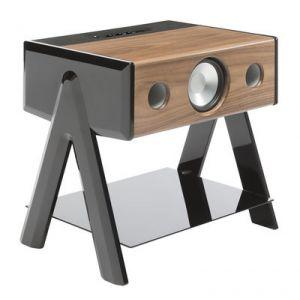 La boite concept Cube Woody - Enceinte acoustique sans fil Bluetooth 4.0