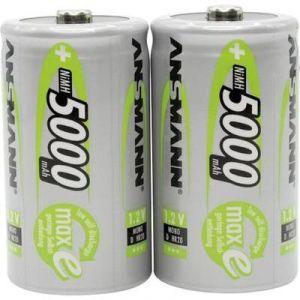 Ansmann Piles rechargeables Mono D (LR20) 5000mAh x2