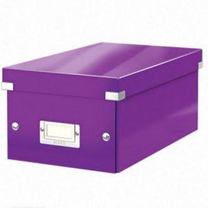 Leitz 6042-00-62 - Boîte de rangement Click & Store, format DVD, en PP, coloris violet