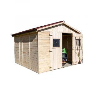 Habrita Abri de jardin en panneau et bois massif - Sans plancher - 16 mm - 9,00 m2