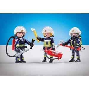 Playmobil 6586 - 3 Pompiers Equipe B - Emballage Plastique, Pas de boîte