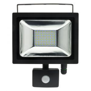 Elexity Projecteur LED 20W Noir avec détecteur - IP44 CE