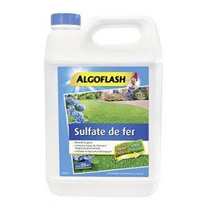Algoflash Sulfate de fer liquide - 5 L - Formulation concentrée de sulfate de fer - Utilisable en agriculture biologique - 5 L