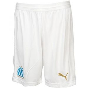 Puma Olympique de Marseille Short Replica Without Inner Slip Pantalons Homme, White/Bleu Azur, FR : L (Taille Fabricant : L)