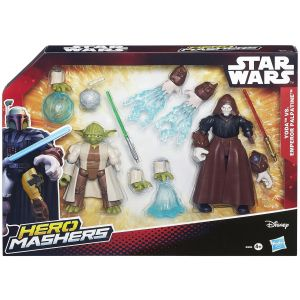 Hasbro Han Solo vs Boba Fett  - Coffret combat Star Wars Hero Mashers