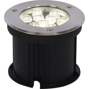 Brilliant AG EEK A+, Spot encastrable LED extérieur Derby Rotary - Matière synthétique / Acier inoxydable - 1 ampoule - 15, Brilliant