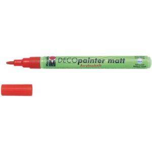 Marabu 012231082 - Marqueur acrylique Deco Painter matt, argent, pointe ogive 1-2 mm