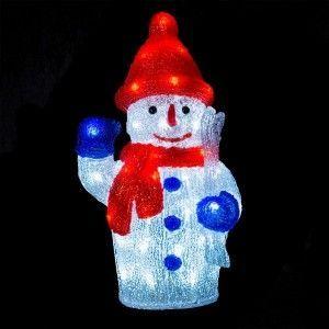 Bonhomme de neige lumineux Théo Blanc froid 40 LED