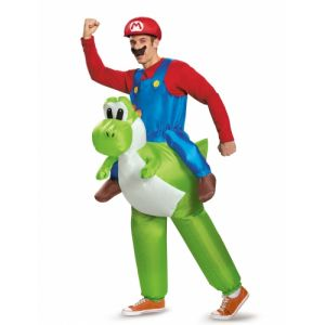 Déguisement gonflable Mario sur Yoshi Nintendo adulte Taille unique