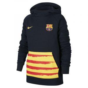 Nike FC Barcelone Fleece Sweat à Capuche Senyera - Bleu Marine/Jaune Enfant - Bleu - Taille Boys XL: 158-170 cm