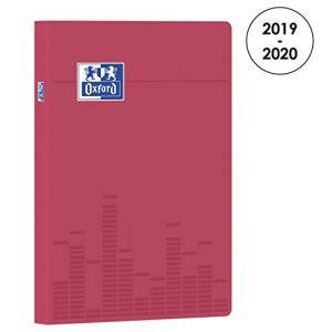 Oxford 100738334 Touch Agenda Scolaire journalier 2019-2020 1 Jour par Page 352 pages 15x21 Rose
