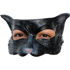 Demi-masque chat en latex