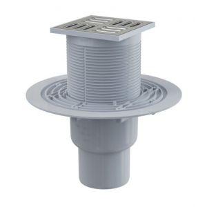 ALT Siphon de sol avec grille inox 105 x 105 mm - sortie verticale
