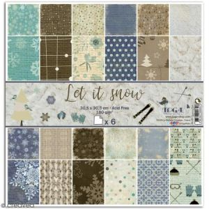 Toga Papier assortiment Let It Snow x 6 pcs
