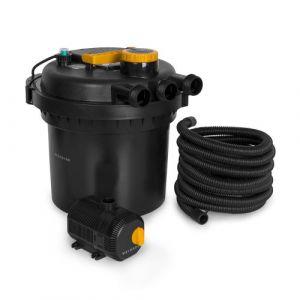 Waldbeck Aquaklar Set de filtration à pression Clarificateur UV-C 11W Débit 2300