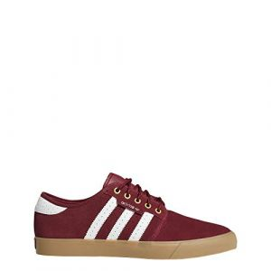 Adidas Seeley, Chaussures de Skateboard Homme, Rouge