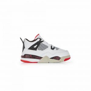 Nike Chaussure Air Jordan 4 Retro pour Bébé/Petit enfant - Blanc - Couleur Blanc - Taille 23.5
